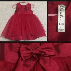🔥5 for $10🔥Cherokee Baby Red Holiday Dress 12M
